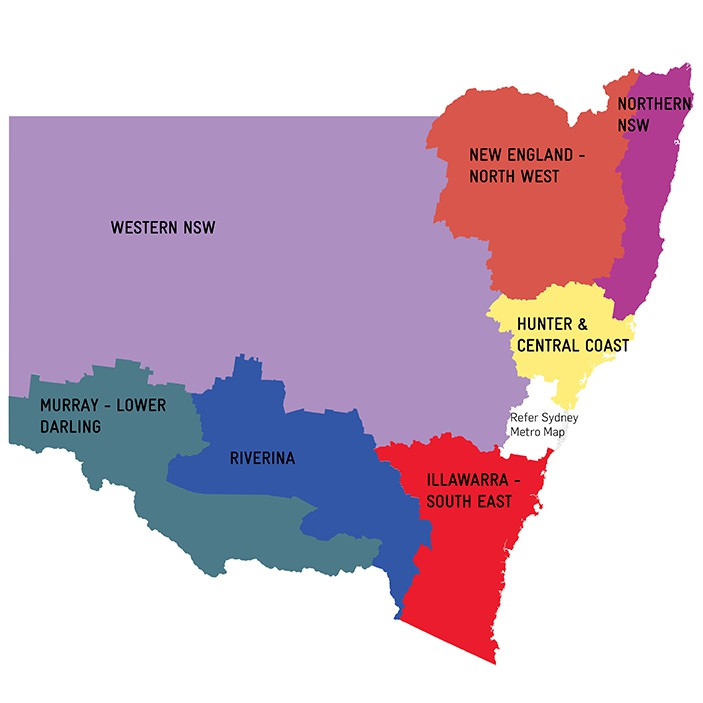 Regional Advisory Councils map