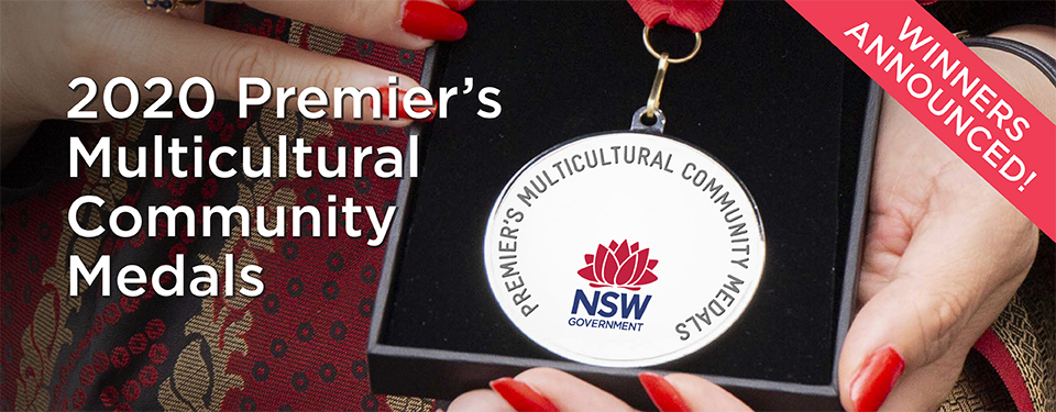Winners of the 2020 Premier's Multicultural Community Medals
