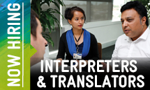 Language Services now hiring casual interpreters